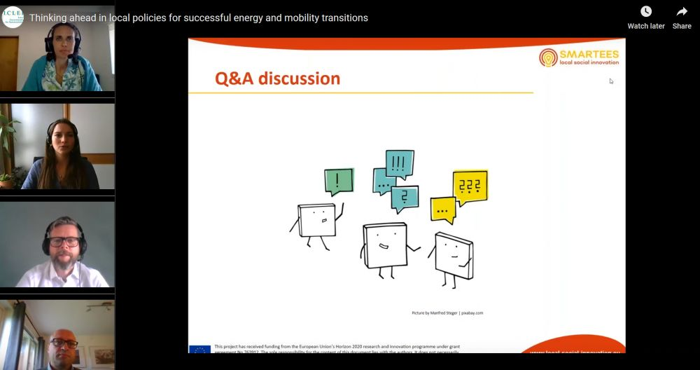 How to institutionalise social innovation in cities for a successful energy transition? See the Webinar recording!